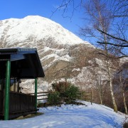 Beech Chalet, Clachaig Chalets and Lodges, Glen Coe - Covered viewing deck