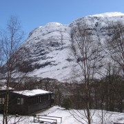 Rowan Tree Lodge, Clachaig Chalets and winter snow.
