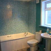 Bathroom at Arivonie Lochside Cottage, Glencoe