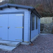 The new garage at Arivonie - Lochside Cottage, Glencoe