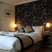 Double bedded room accommodation at Arivonie Lochside Cottage, Glencoe