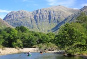 On the River Coe close to Riverbank Holiday Cottages. Glencoe