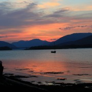 Ballachulish foreshore sunset