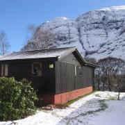 Winter at Clachaig Chalets