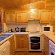 Rowan Tree Lodge, Clachaig Chalets and Lodges, Glencoe - fully fiitted kitchen